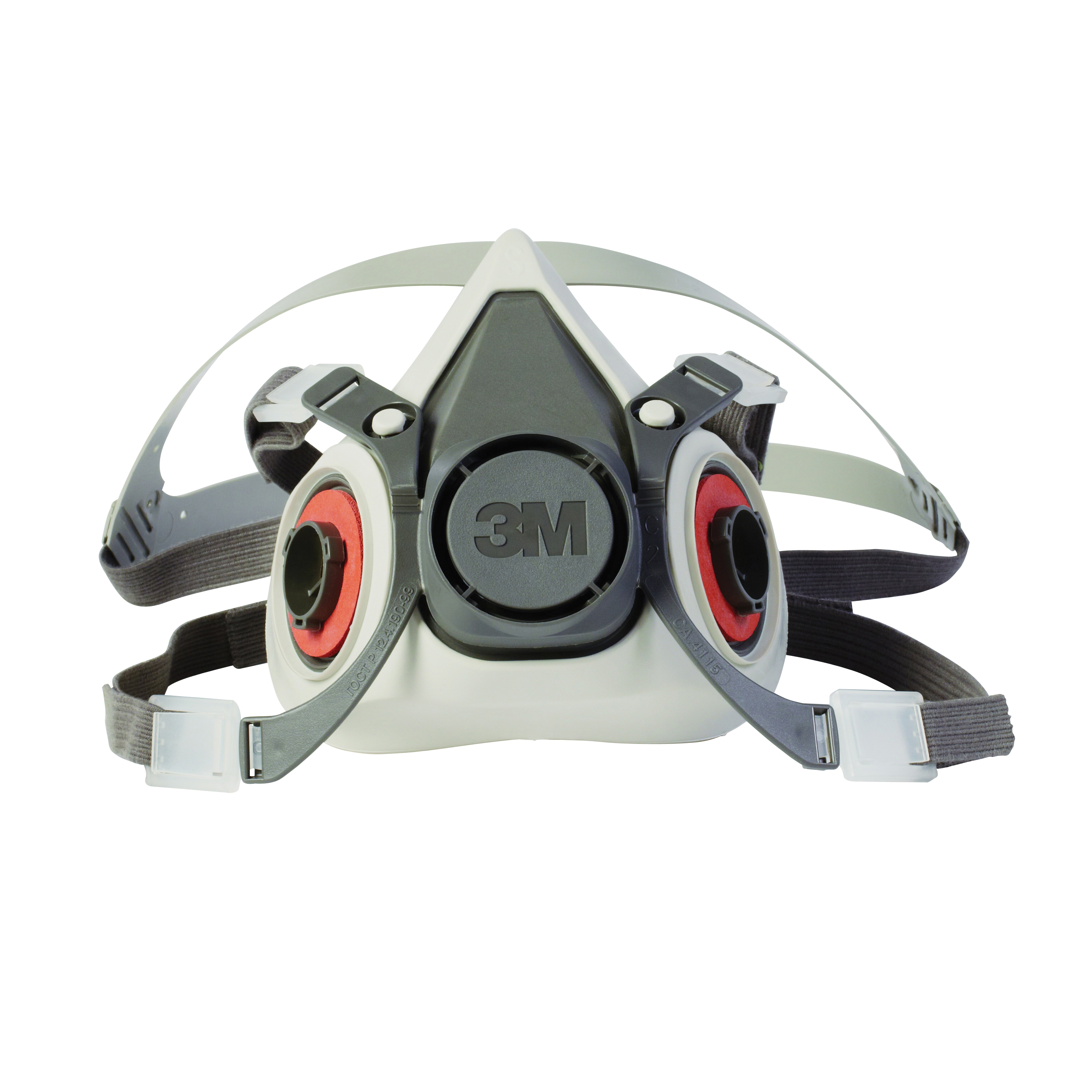 3M™ 051131-07024 Dual Cartridge Reusable Half Facepiece Respirator, S, 4-Point Yolk/Cradle Suspension, Bayonet Connection, Resists: Particulates, Gases and Vapors