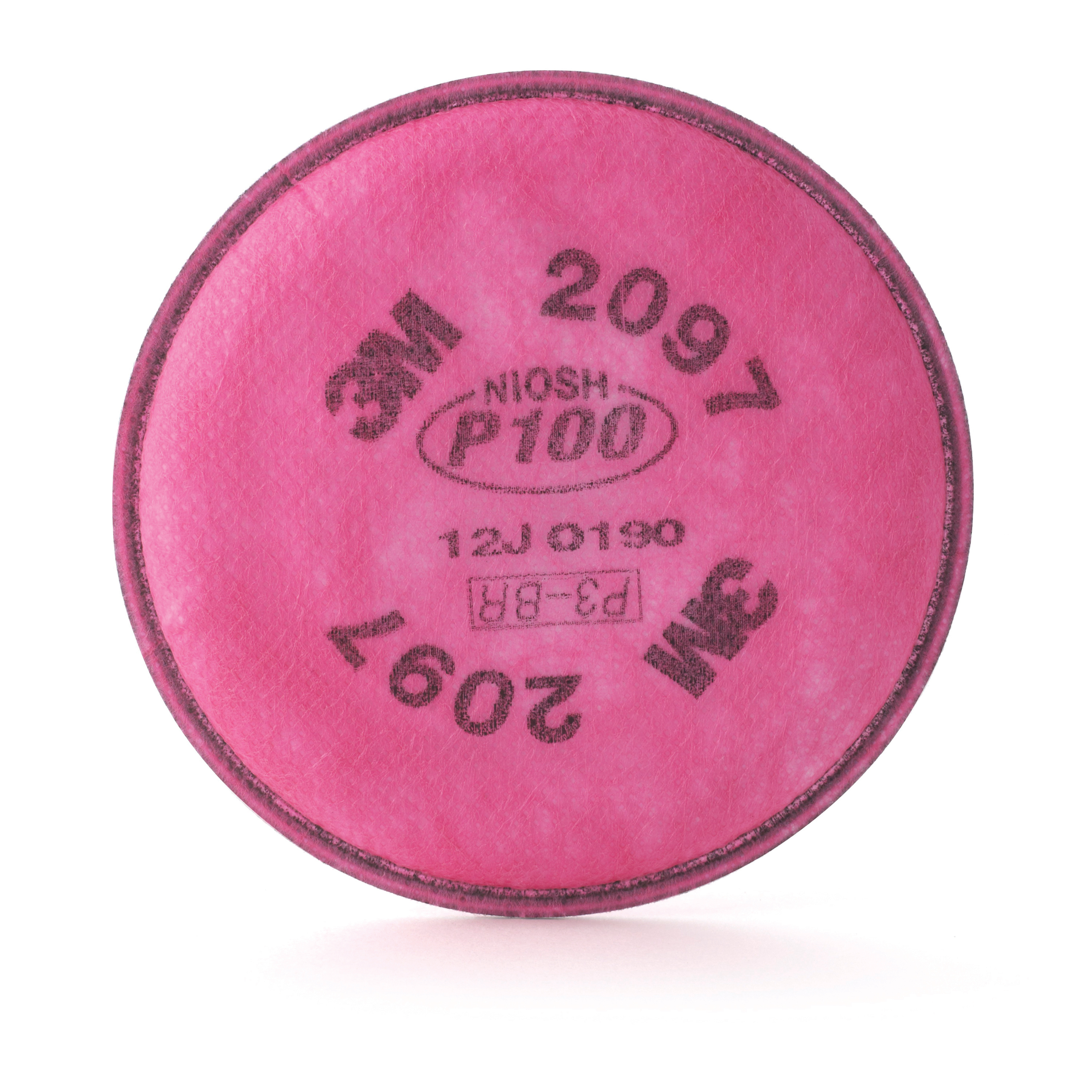 3M™ 051131-07184 2097 Particulate Filter With Nuisance Level Organic Vapor Relief, For Use With 3M™ 5000 Series Reusable Respirators, 6000 Series Cartridges with 502 Adapters, 6000, 7000 and FF-400 Series Respirators, P100 Filter Class, Bayonet Connection
