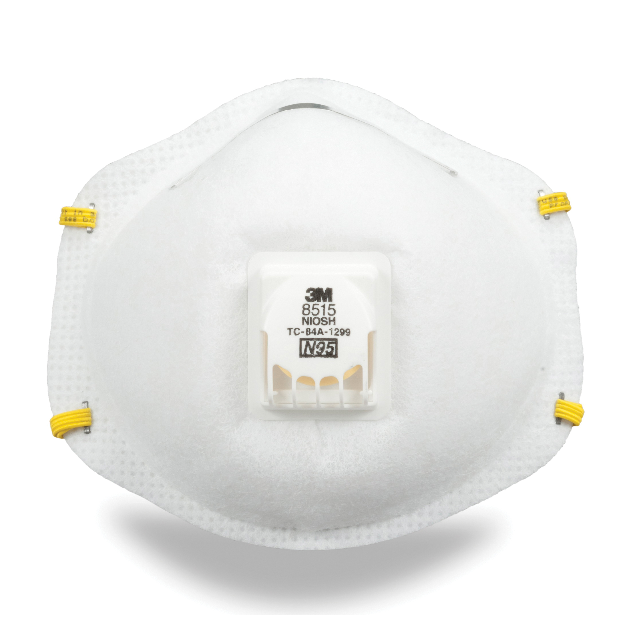3M™ 051131-07189 Cup Style Disposable Particulate Welding Respirator With Cool Flow™ Exhalation Valve and Adjustable M-Nose Clip, Standard, Resists: Certain Non-Oil Based Particles