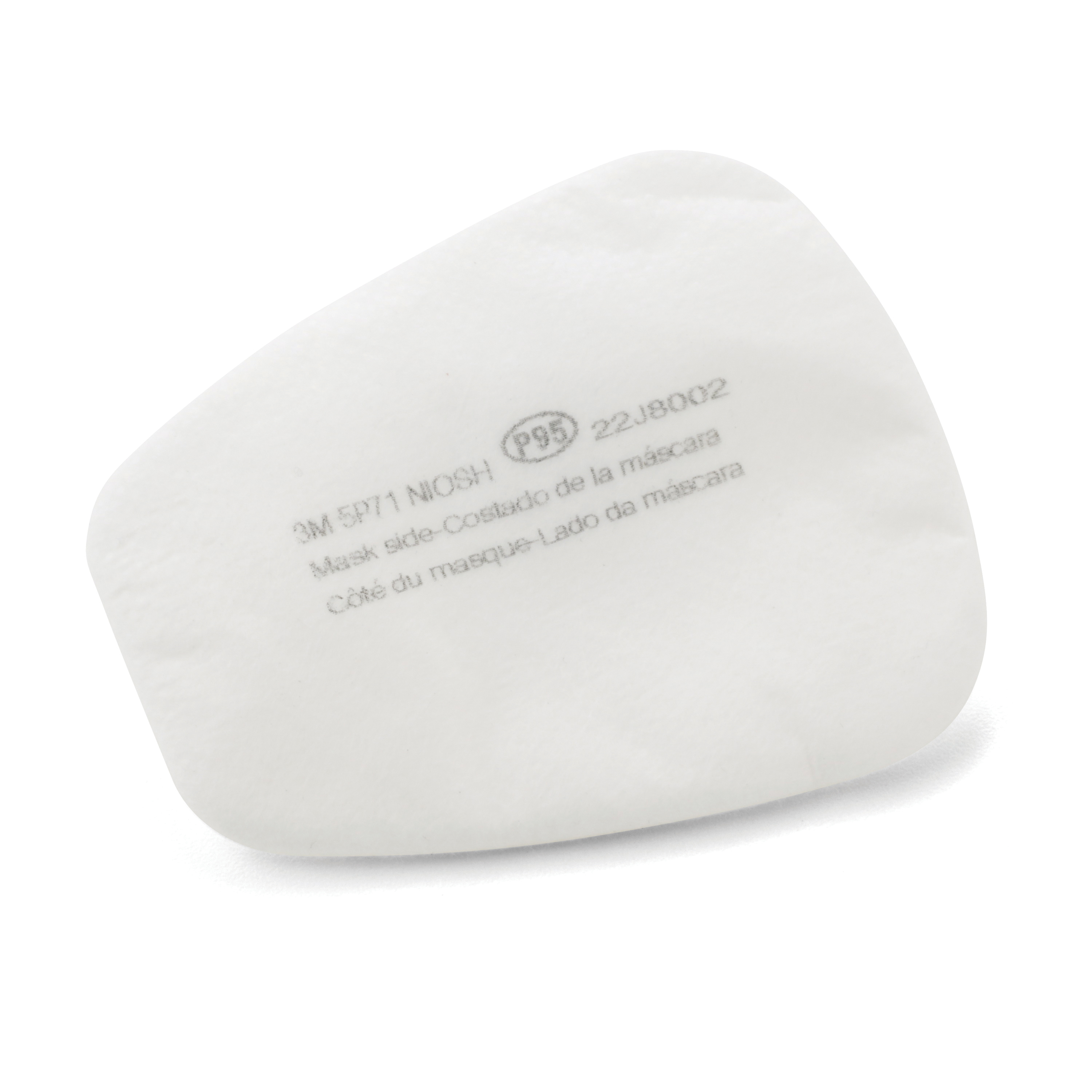 3M™ 051138-66278 Replacement Particulate Filter, For Use With 3M™ 5000 Series Reusable Respirators, 6000 Series Cartridges, 603 Filter Adapter and 501 Filter Retainers, P95