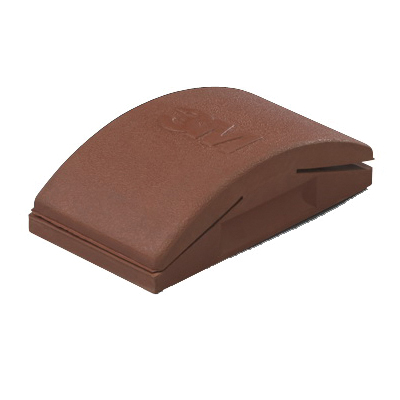 3M™ 051131-35519 Firm Density Sanding Block, 5 in L x 2-3/4 in W, Rubber Abrasive, Clip-On Attachment