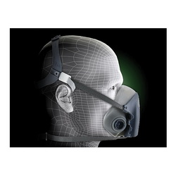 3M™ 051131-37081 7500 Probed Reusable Half Face Mask Respirator, S, 4-Point Suspension, Bayonet Connection, Resists: Multi-Contaminants