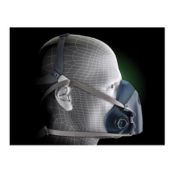 3M™ 051131-37083 7500 Probed Reusable Half Face Mask Respirator, L, 4-Point Suspension, Bayonet Connection, Resists: Multi-Contaminants