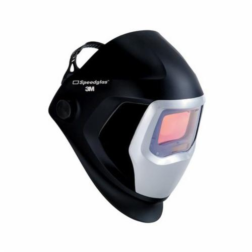 Speedglas™ 051131-37172 9100 Welding Helmet With Auto-Darkening Filter, 5, 8 to 13 Lens Shade, Black/Silver, 9.12 sq-in Viewing Area, Specifications Met: ANSI Z87.1-2010, CSA Z94.3
