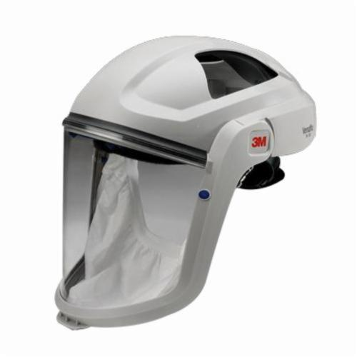 3M™ Versaflo™ 051131-37314 M Series Respiratory Faceshield Assembly, Clear Visor/White Headgear, Specifications Met: ANSI Z87.1-2010, OSHA Approved