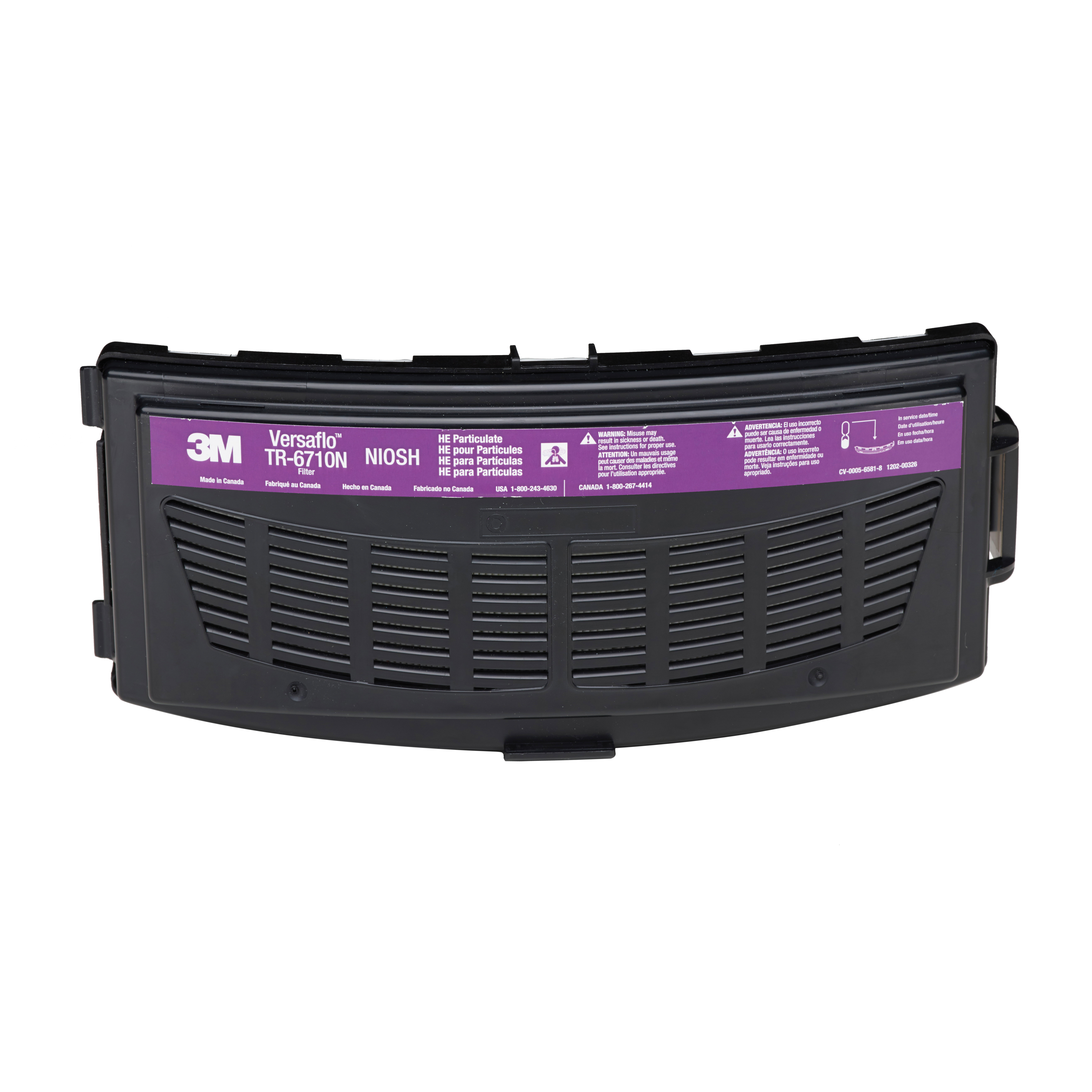 3M™ 051131-37357 TR Series HEPA Filter, For Use With Versaflo™ TR-600 Series PAPRs