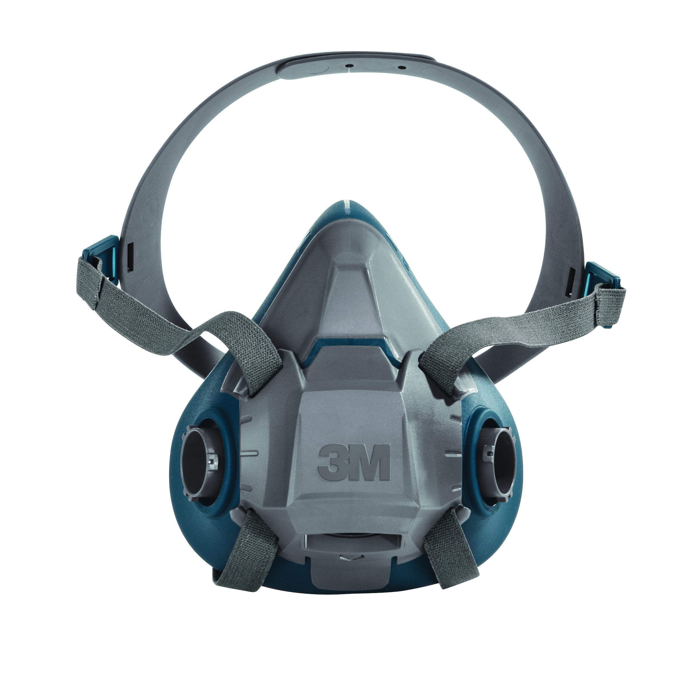 3M™ 051131-49489 6502 Probed Reusable Half Facepiece Respirator, M, 4-Point Suspension, Bayonet Connection, Resists: Gases and Vapors