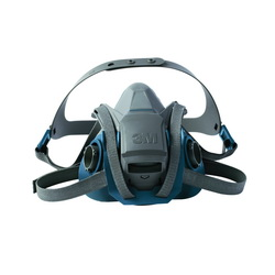3M™ 051131-49488 6501QL Probed Reusable Half Facepiece Respirator With Cool Flow™ Exhalation Valve, S, 4-Point Quick Latch Suspension, Bayonet Connection, Resists: Gases and Vapors