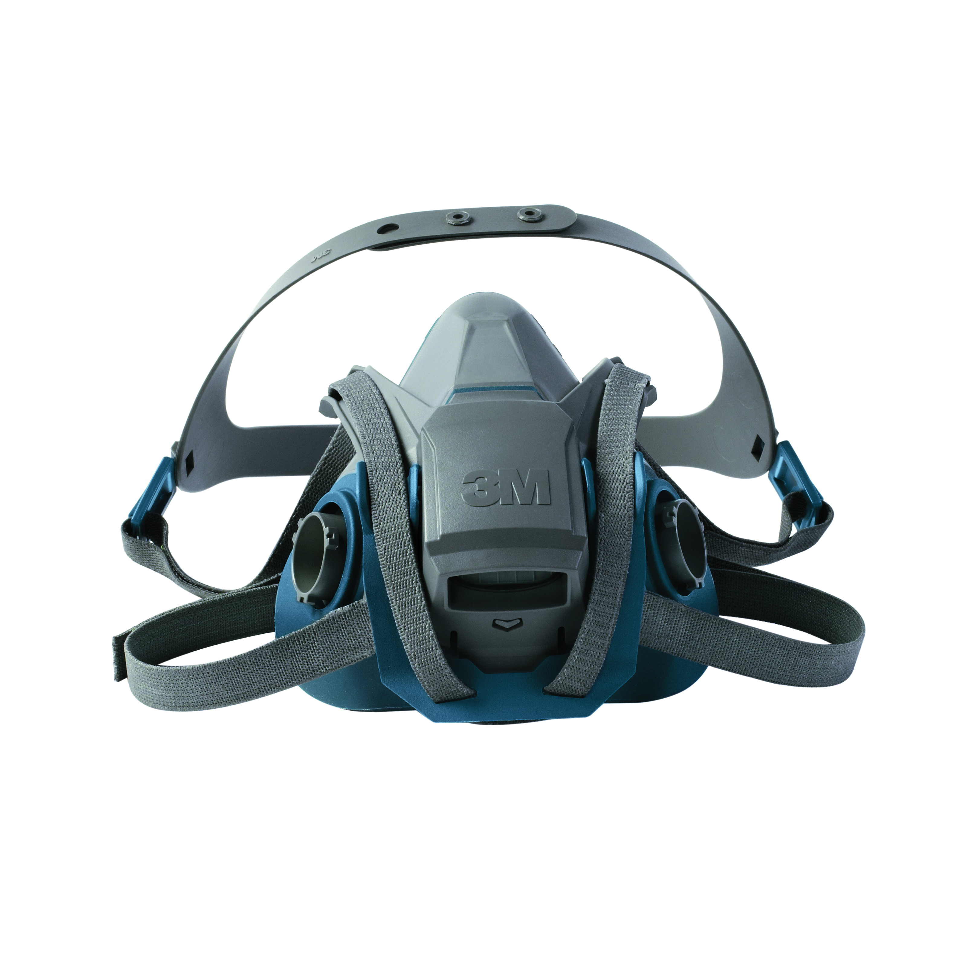 3M™ 051131-49490 Probed Reusable Half Facepiece Respirator With Cool Flow™ Exhalation Valve, M, 4-Point Quick Latch Suspension, Bayonet Connection, Resists: Gases and Vapors