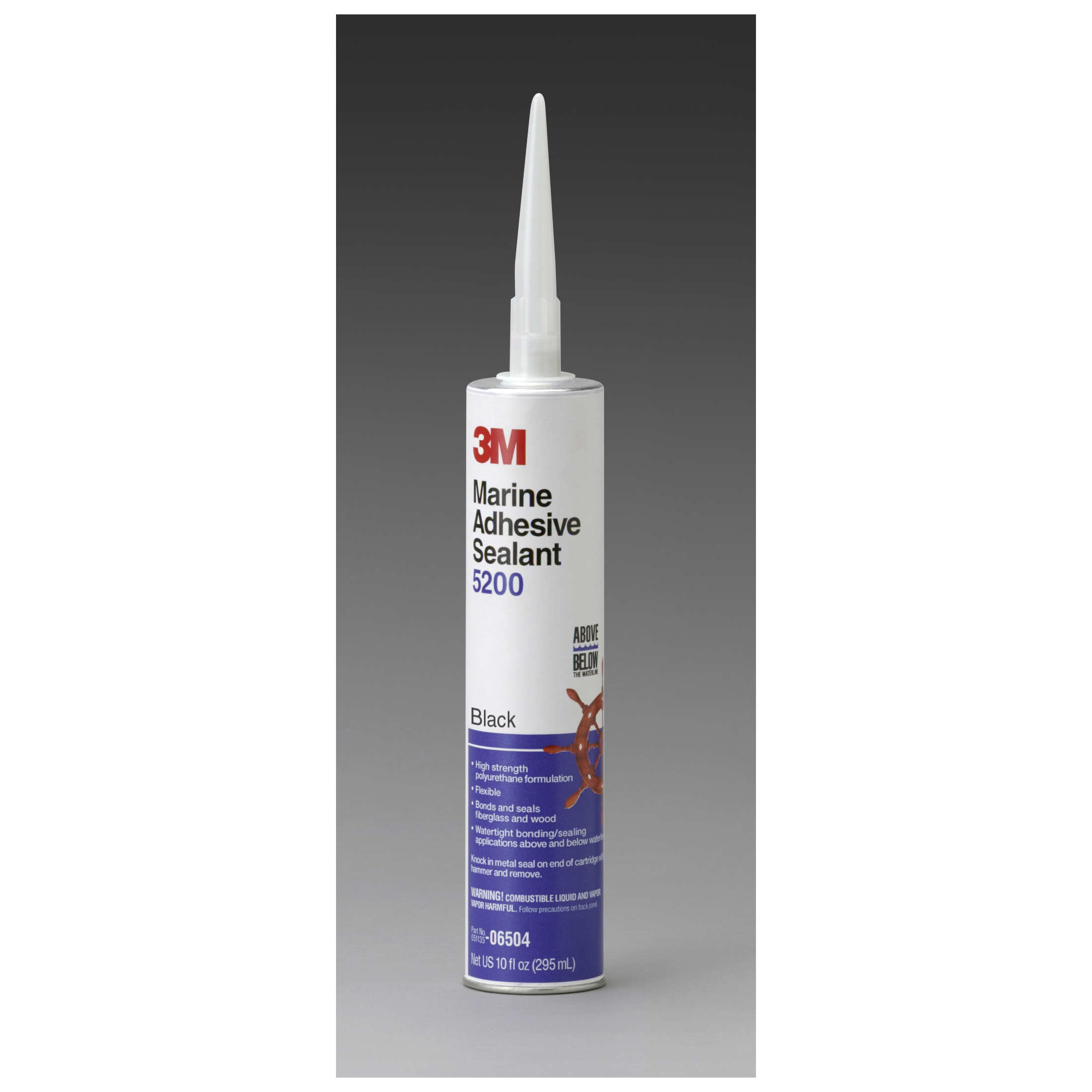 3M™ 051135-06504 5200 Very High Strength Adhesive Sealant, 0.1 gal Cartridge, Black