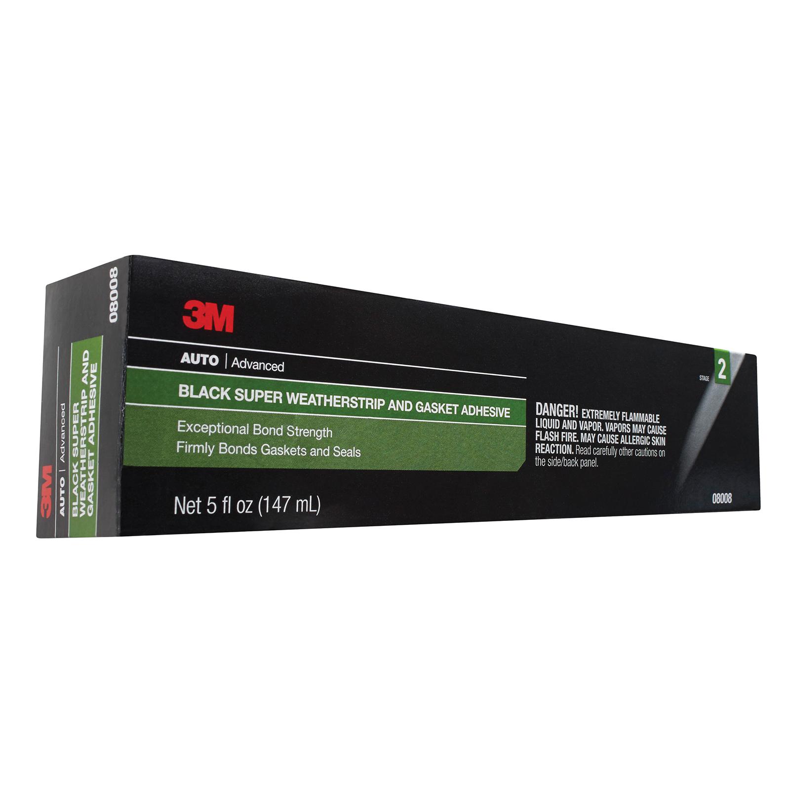 3M™ 051135-08008 Weatherstrip Adhesive, 5 oz Tube, Liquid, Black, 0.9