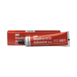 3M™ 051135-08011 Fast Drying Flexible Waterproof Weatherstrip Adhesive, 5 oz Tube, Medium Paste, Black, 0.82