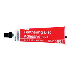 3M™ 051135-08051 Type 2 Feathering Disc Adhesive, 5 oz Tube, Liquid, Amber, 0.8