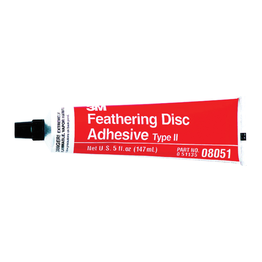 3M™ 051135-08051 Type 2 Feathering Disc Adhesive, 5 oz Tube, Liquid Form, Amber, 0.8