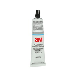 3M™ 051135-08061 Plastic and Emblem Adhesive, 5 oz Tube, Liquid, Clear, 0.95