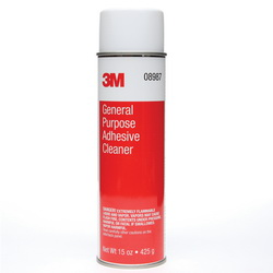 3M™ 051135-08984 General Purpose Adhesive Cleaner, 1 qt, Sharp Aromatic Solvent Odor/Scent, Clear, Liquid Form