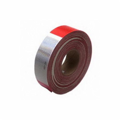 3M™ Diamond Grade™ 051138-67533 Conspicuity Marking Tape, 150 ft L x 2 in W x 0.014 to 0.018 in THK, Red/White