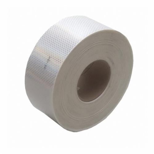 3M™ 051141-22499 Flexible Prismatic Conspicuity Marking Tape, 50 yd L x 2 in W x 0.01 to 0.014 in THK, White