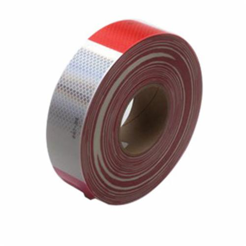 3M™ Diamond Grade™ 051138-67535 Conspicuity Marking Tape, 150 ft L x 2 in W x 0.014 to 0.018 in THK, Red/White