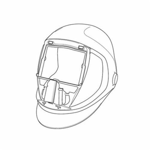 Speedglas™ 051135-89367 9100 Welding Helmet, Silver, 2.8 x 4.2 in Viewing Area, Nylon, Specifications Met: ANSI Z87.1-2010
