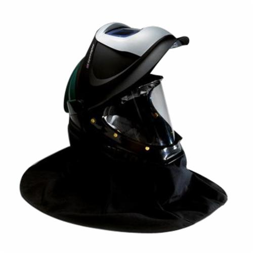 3M™ 051135-89454 L Series Welding Helmet With Welding Shield and Wide-View Faceshield, Green, Polycarbonate/Polyester Shell, Specifications Met: ANSI Z87.1-2010