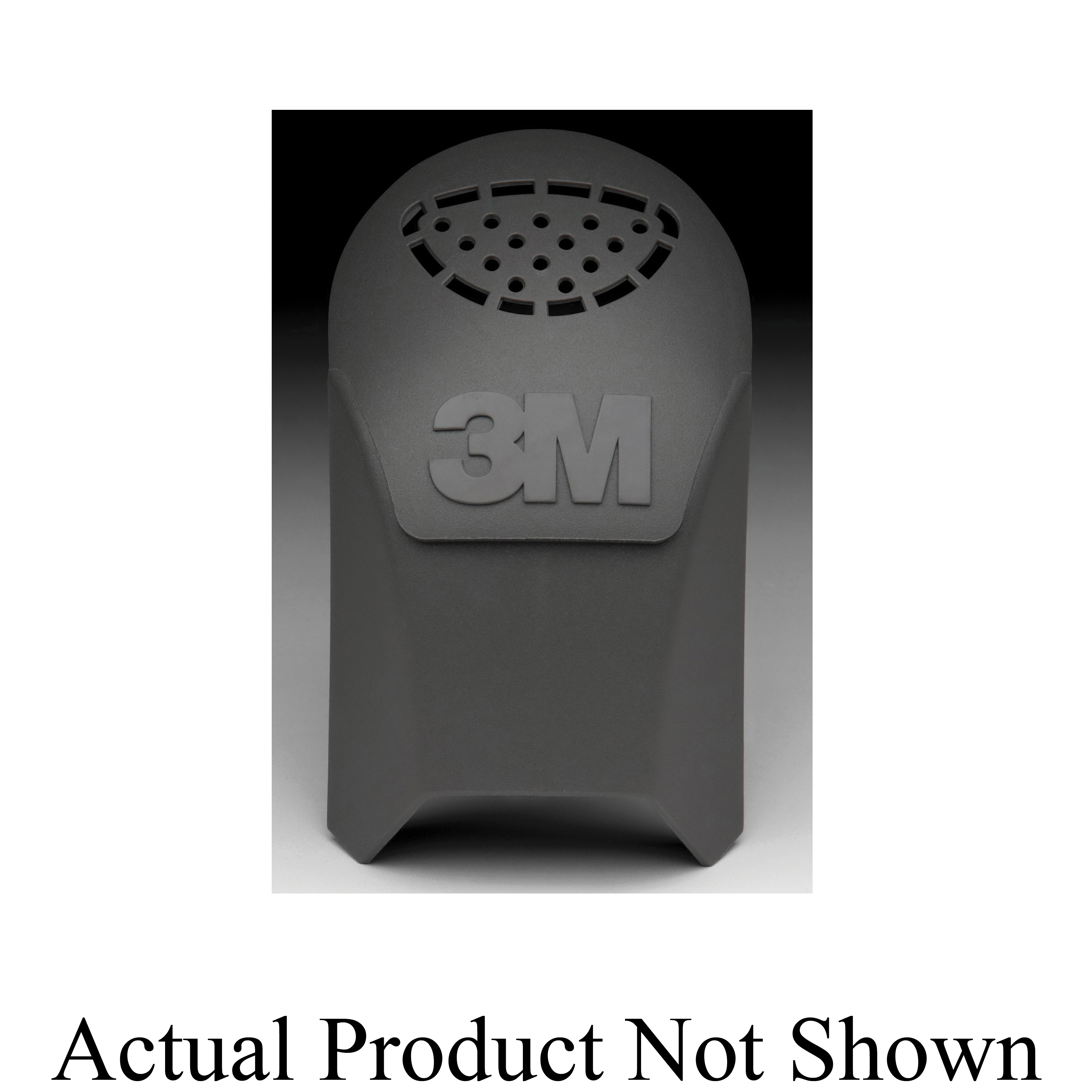 3M™ 051135-89481 Exhalation Valve Cover, For Use With FF-401, 402 and 403 Ultimate FX Full Facepiece Reusable Respirators, Black