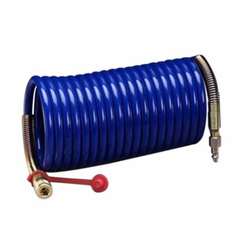 3M™ 051138-16209 W-2929 Coiled Straight Air Respirator Hose, 3/8 in Dia Hose, 25 ft L, For Use With 3M™ High Pressure Compressed Air Systems, Specifications Met: NIOSH Approved