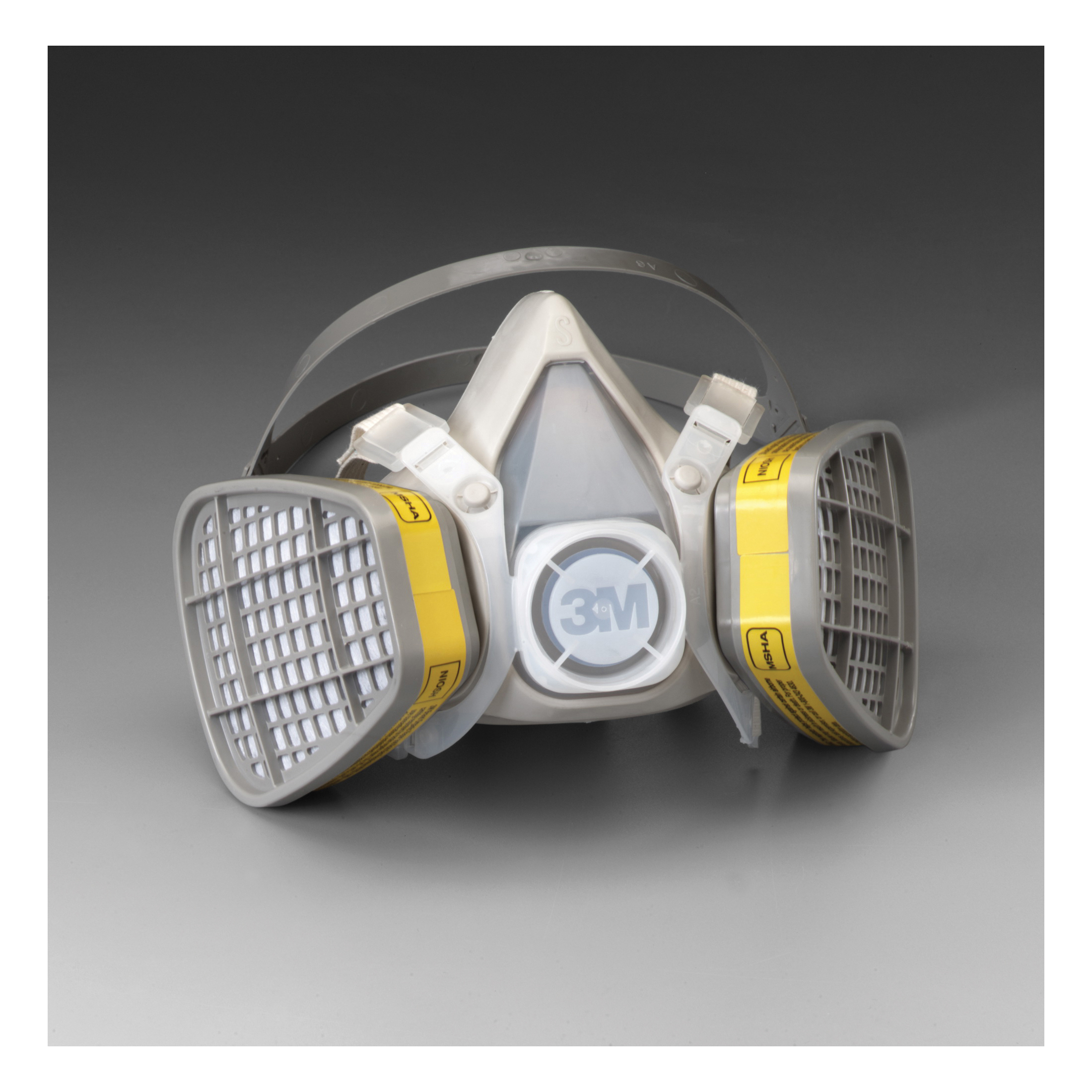 3M™ 051138-21567 5000 Disposable Half Facepiece Respirator Assembly, S, Resists: Acid Gas, Chlorine, Hydrogen Chloride, Hydrogen Fluoride, Hydrogen Sulfide, Organic Vapors and Sulfur Dioxide