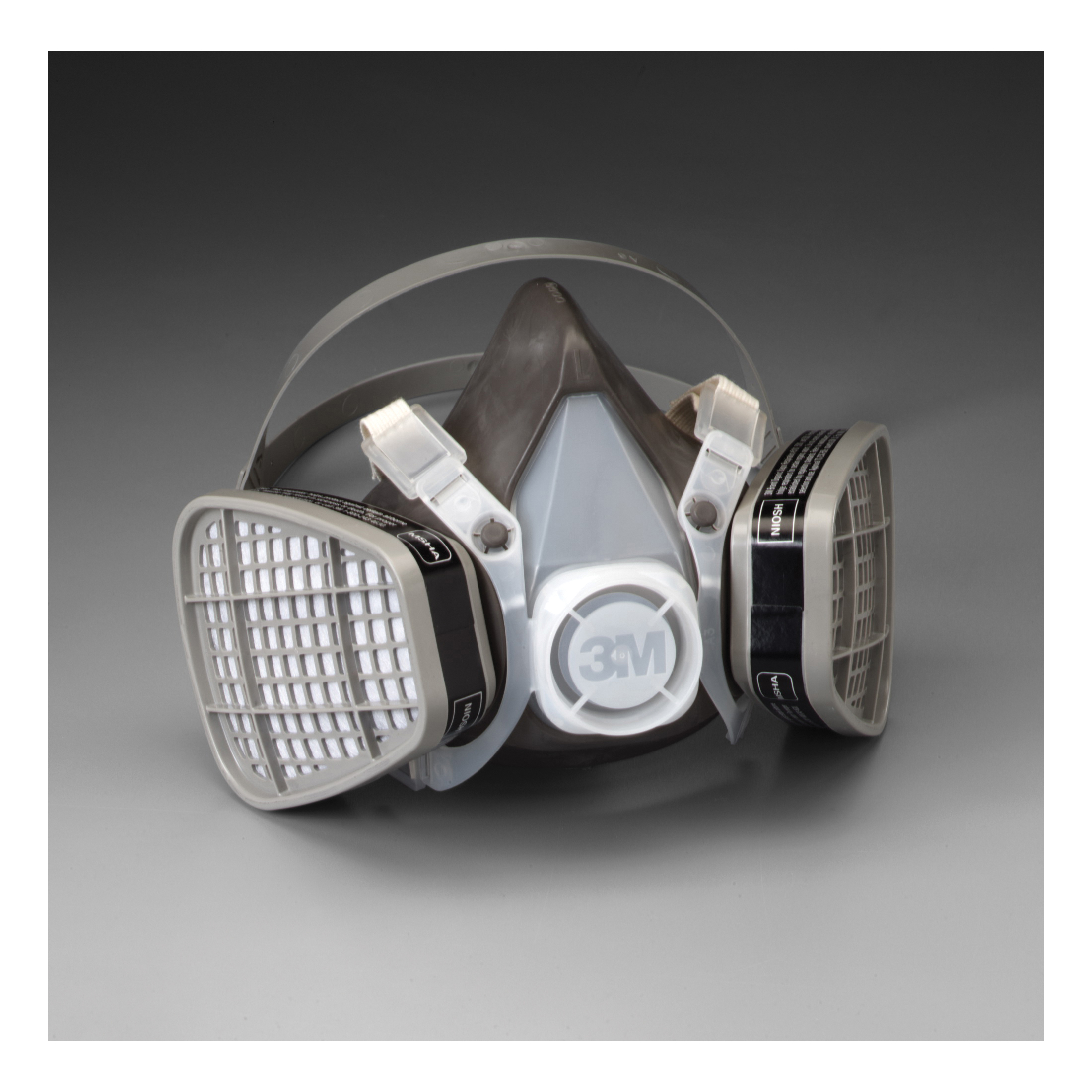 3M™ 051138-21577 5301 5000 Disposable Half Facepiece Respirator Assembly, L, Resists: Acid Gas, Chlorine, Hydrogen Chloride, Hydrogen Fluoride, Hydrogen Sulfide, Organic Vapors and Sulfur Dioxide