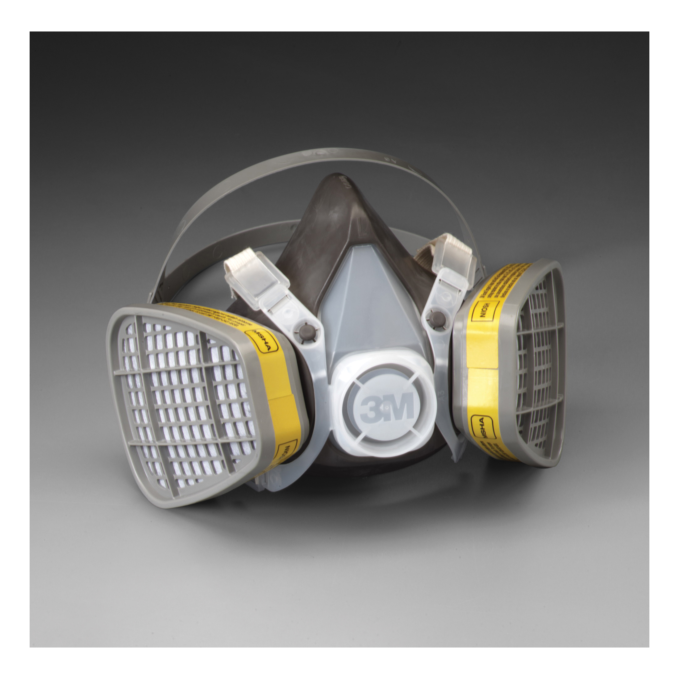 3M™ 051138-21579 5303 5000 Disposable Half Facepiece Respirator Assembly, L, Resists: Acid Gas, Chlorine, Hydrogen Chloride, Hydrogen Fluoride, Hydrogen Sulfide, Organic Vapors and Sulfur Dioxide