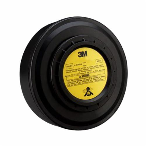 3M™ 051138-29218 Cartridge, For Use With PAPR Systems, Gray, Resists: Acid Gas and Organic Vapors