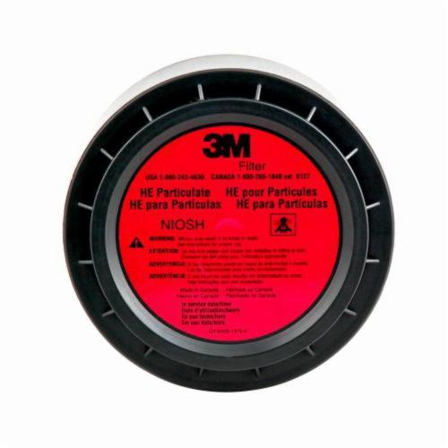 3M™ 051138-29219 Filter, For Use With Belt Mounted PAPR Systems, Gray, Resists: Particulates