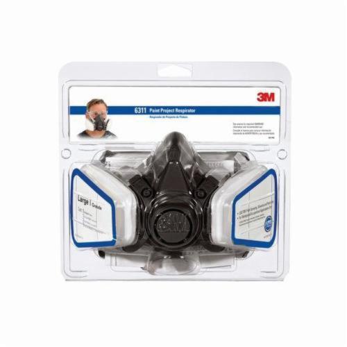 3M™ TEKK Protection™ 051138-54252 Dual Cartridge Paint Project Respirator, L, Resists: Solid and Liquid Aerosols