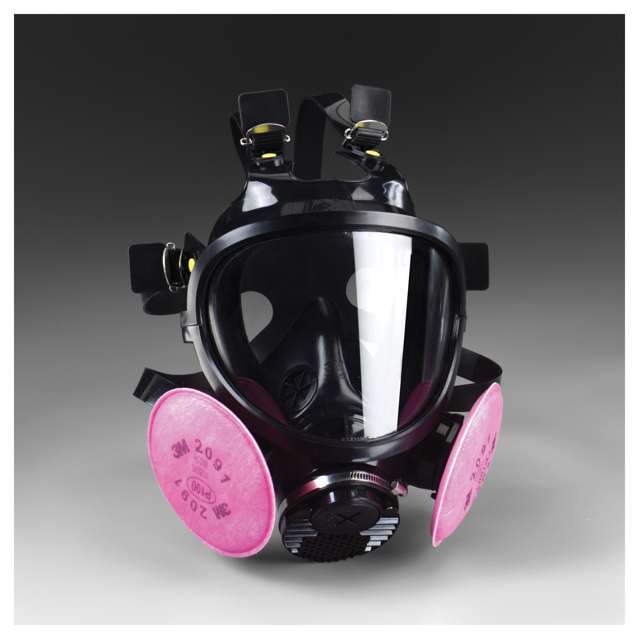 3M™ 051138-54257 V Series 7800 Reusable Full Face Respirator, S, 6-Point Suspension, Bayonet/DIN Connection, Resists: Multi-Contaminants