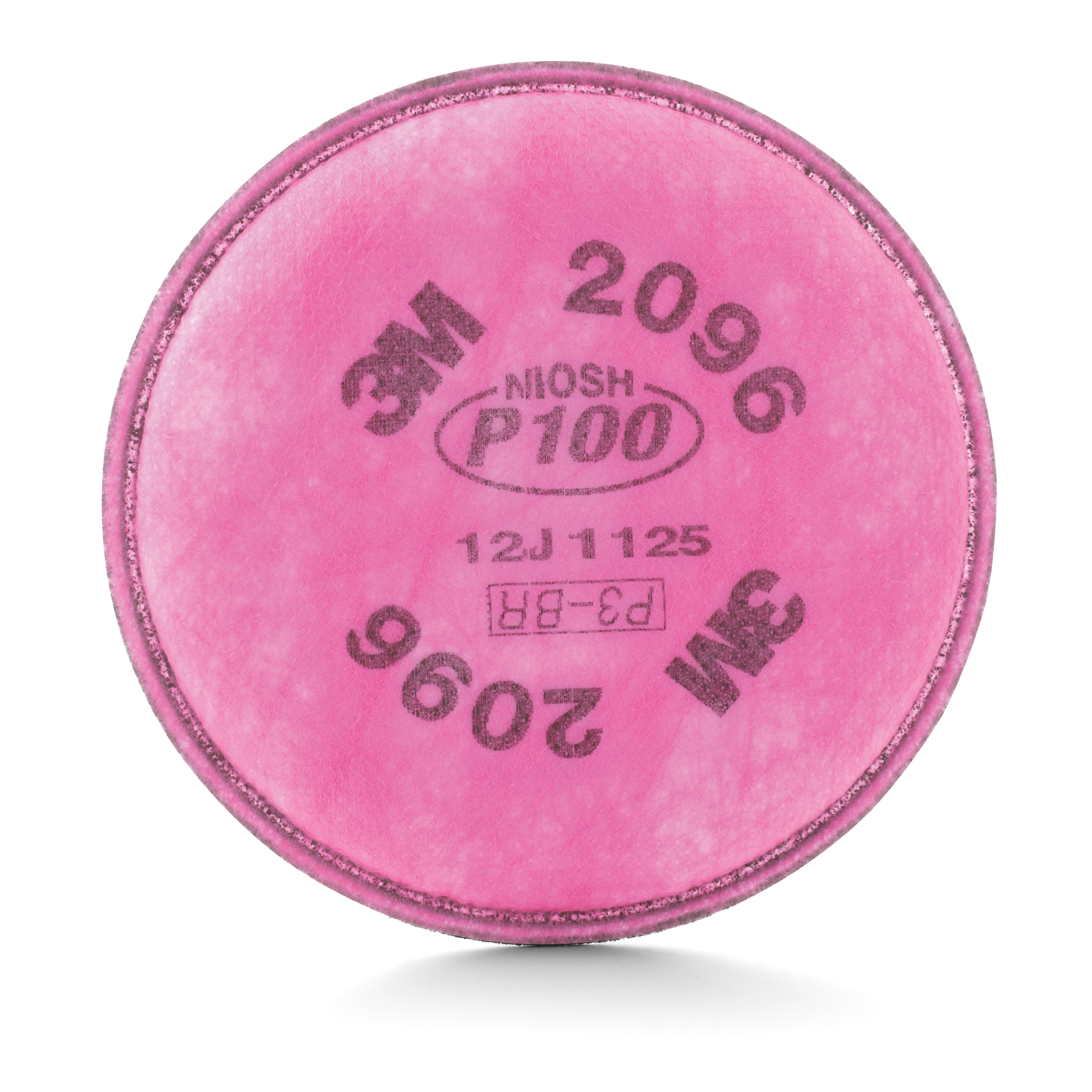 3M™ 051138-54295 Particulate Filter With Nuisance Level Acid Gas Relief, For Use With 6000 and 7000 Series Air Purifying Respirators, P100, 0.9997 Filter Efficiency, Bayonet Connection, Magenta, Resists: Oil and Non-Oil Based Particles