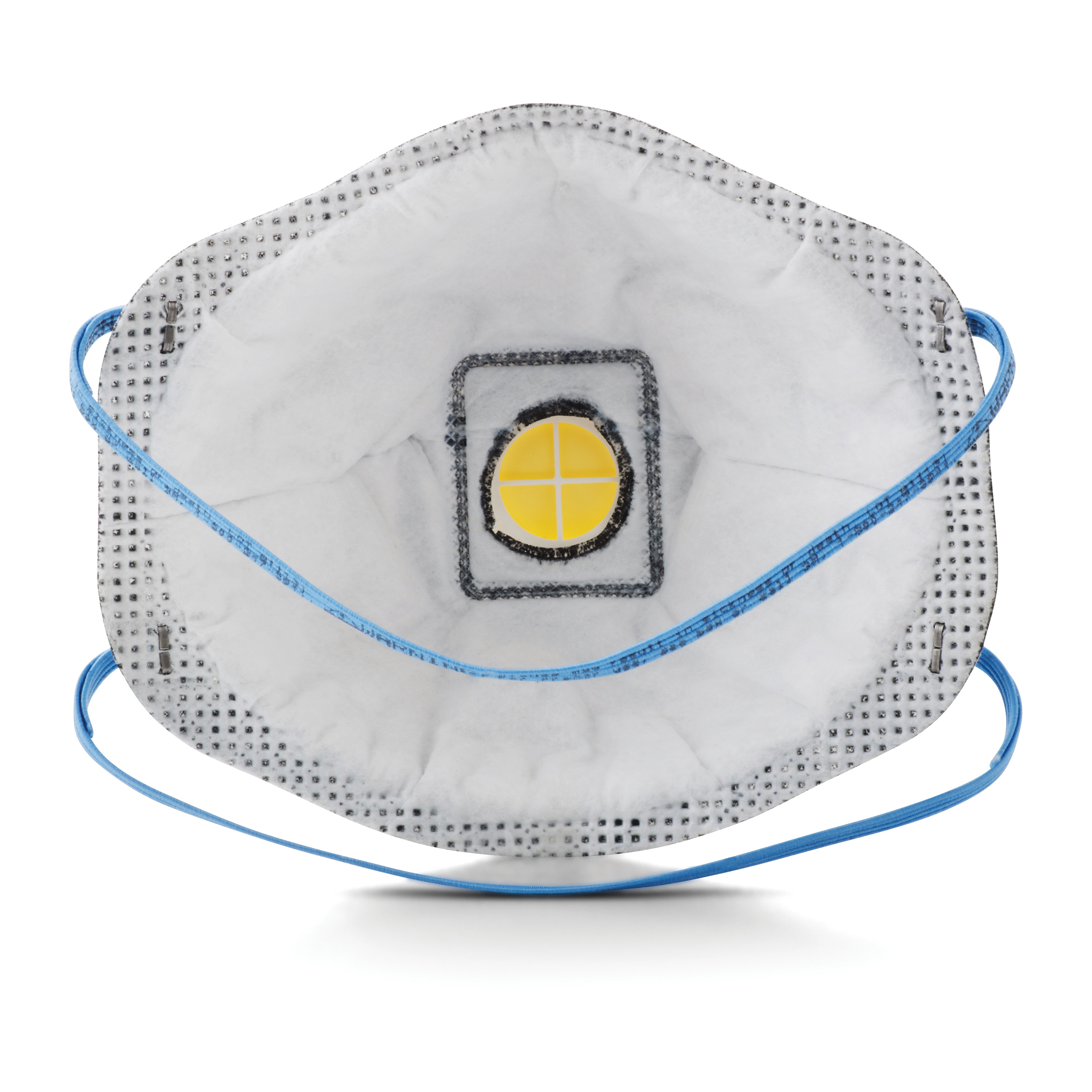 3M™ 051138-54370 8576 Cup Style Disposable Particulate Respirator With Cool Flow™ Exhalation Valve and Adjustable M-Nose Clip, Standard, Resists: Certain Oil and Non-Oil Based Particles