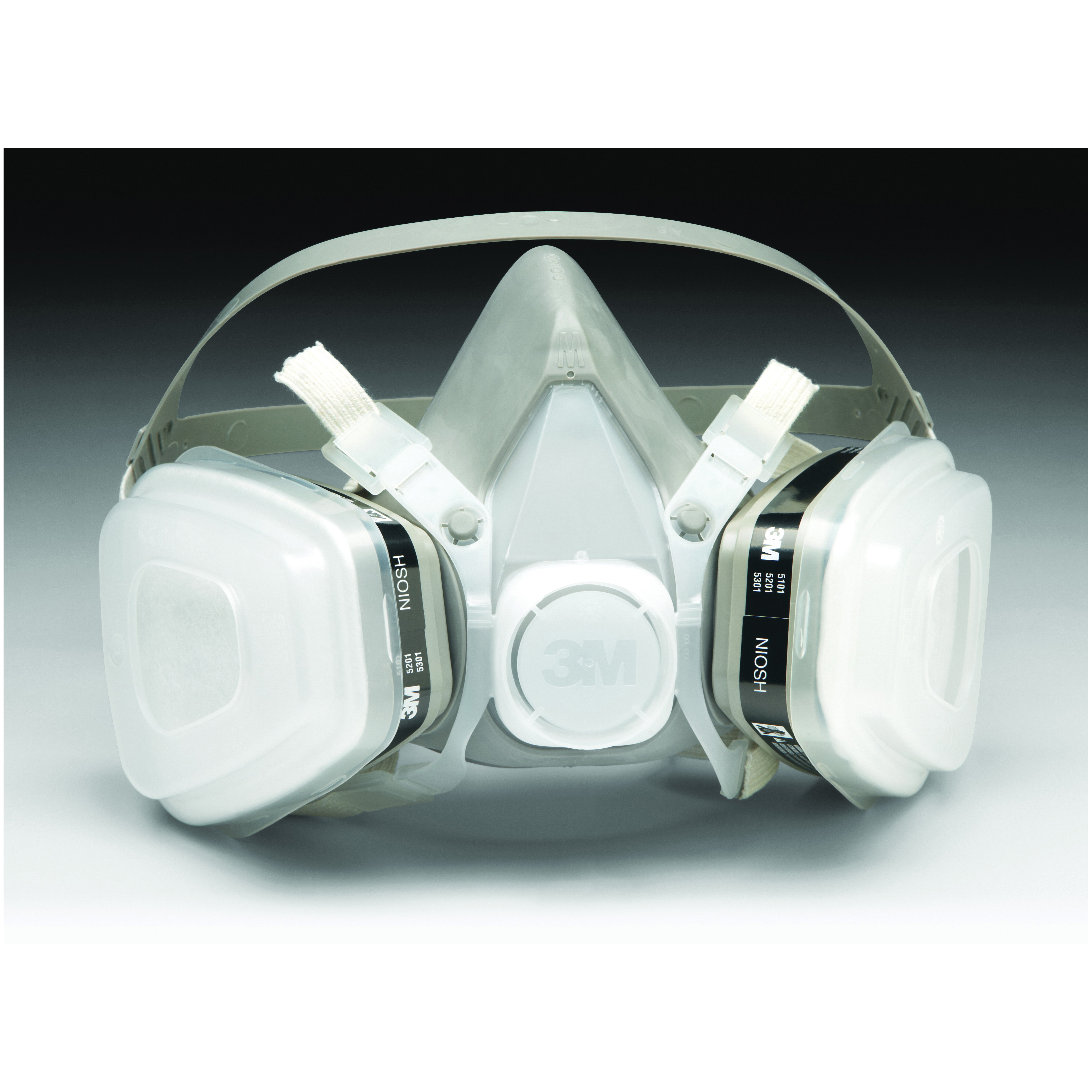 3M™ 051138-66068 51P71 5000 Disposable Half Facepiece Respirator Assembly, S, Resists: Acid Gas, Chlorine, Hydrogen Chloride, Hydrogen Fluoride, Hydrogen Sulfide, Organic Vapors and Sulfur Dioxide