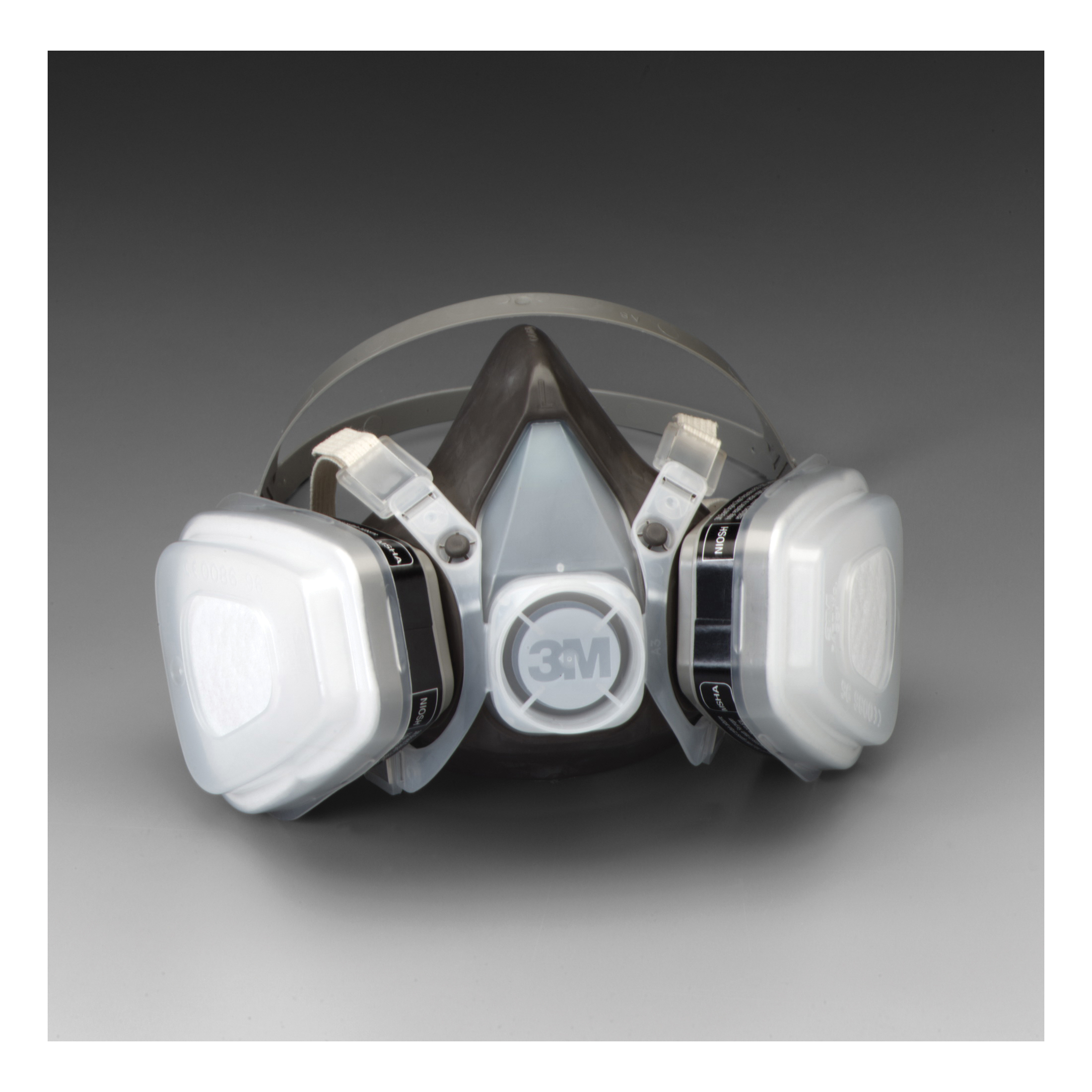 3M™ 051138-66070 5000 Disposable Half Facepiece Respirator Assembly, L, Resists: Acid Gas, Chlorine, Hydrogen Chloride, Hydrogen Fluoride, Hydrogen Sulfide, Organic Vapors and Sulfur Dioxide