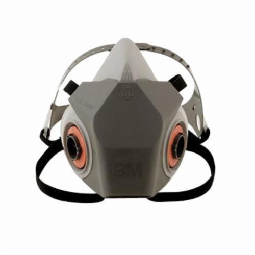 3M™ 051138-66372 Drop Down Reusable Half Facepiece Respirator, S, 4-Point Yolk/Cradle Suspension, Bayonet Connection, Resists: Particulates, Gas and Vapors