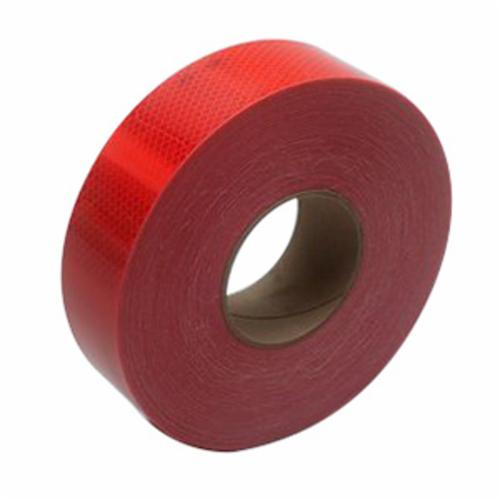 3M™ Diamond Grade™ 051138-67816 Conspicuity Marking Tape, 150 ft L x 2 in W x 0.014 to 0.018 in THK, Red