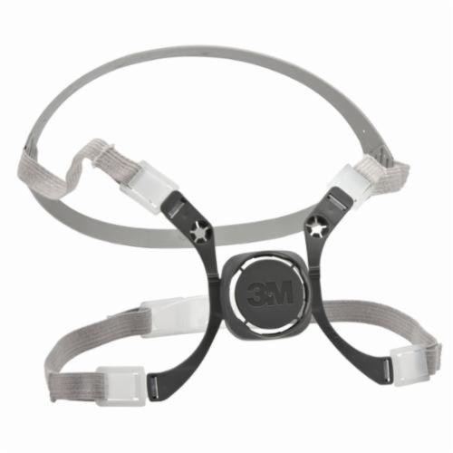 3M™ 051138-76567 Head Harness Assembly, For Use With 6000 Series Half Facepiece Respirators, Black/Gray, Specifications Met: CE Certified