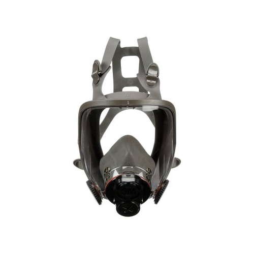 3M™ 051138-76702 Reusable Full Face Respirator, M, 4-Point Suspension, DIN/Threaded Connection