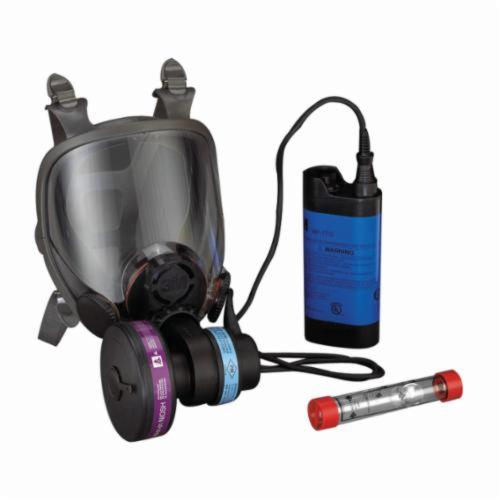 3M™ Powerflow™ 051138-76712 Powered Air Purifying Respirator System, M, HEPA Filters and Cartridges, Rechargeable Ni-Cd Battery, Specifications Met: ANSI Z87.1-2003, NIOSH Approved
