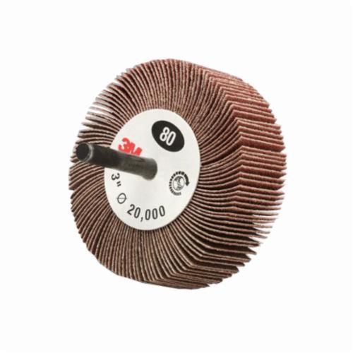 3M™ 051144-14592 Unmounted Coated Flap Wheel, 2-1/2 in Dia Wheel, 1 in W Face, 80 Grit, Medium Grade, Aluminum Oxide Abrasive