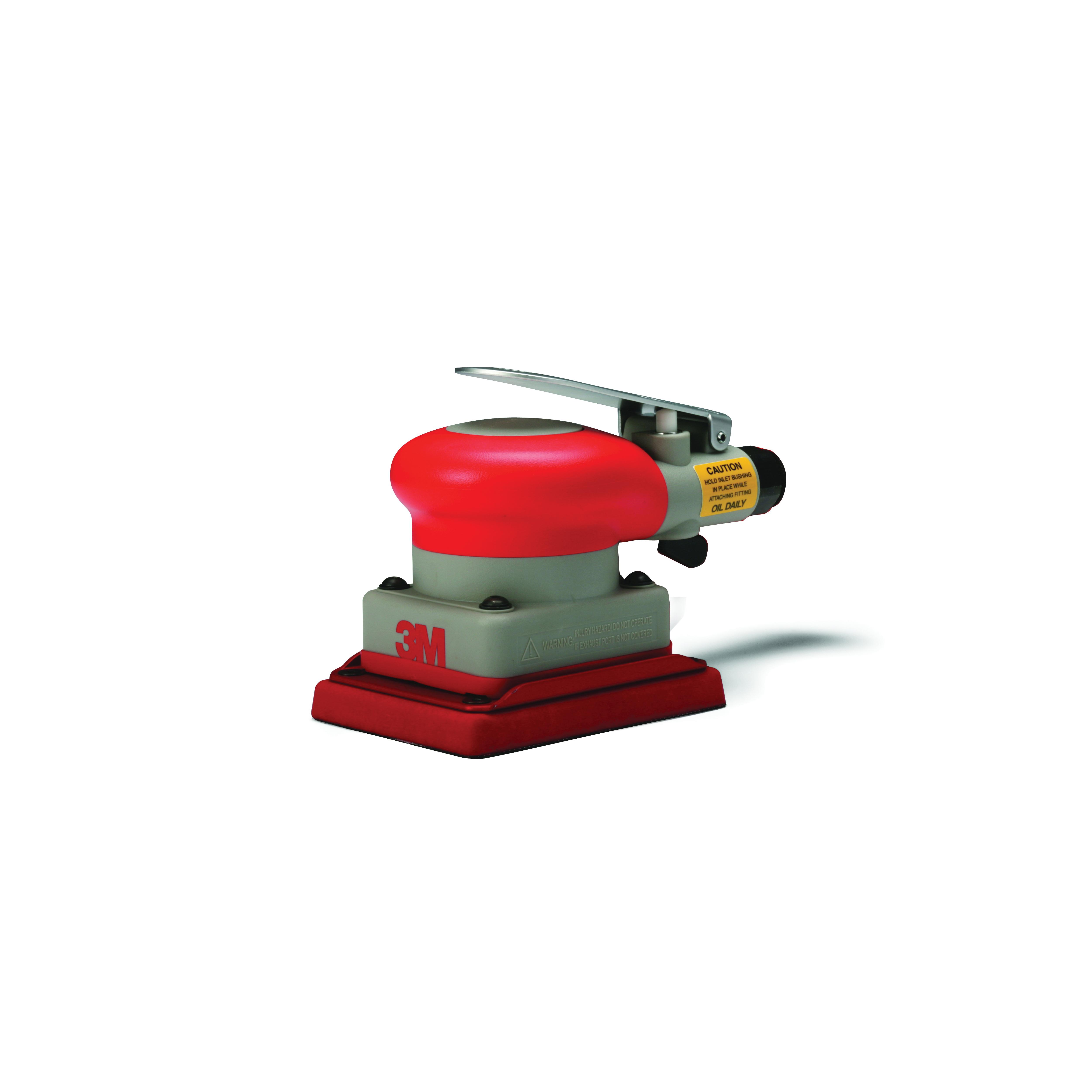 3M™ 051141-20331 Non-Vacuum Pneumatic Orbital Sander, 3 x 4 in Rectangle Pad, 17 scfm Air Flow, 90 psi