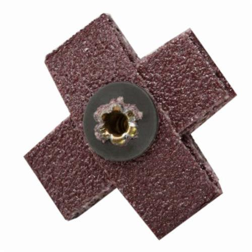 3M™ 051144-97780 Coated Cross Pad, 5 in L x 5 in W x 1-1/2 in THK, 1/4-20 Eyelet Thread, 60 Grit