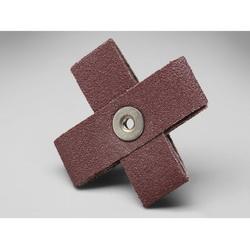 3M™ 051144-97760 Coated Cross Pad, 3 in L x 3 in W x 1-1/2 in THK, 1/4-20 Eyelet Thread, 60 Grit