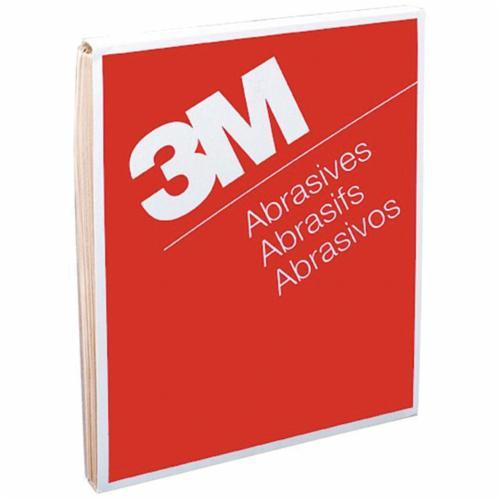 3M™ 051144-02104 Coated Abrasive Sheet, 11 in L x 9 in W, 180 Grit, Very Fine Grade, Aluminum Oxide Abrasive, Paper Backing