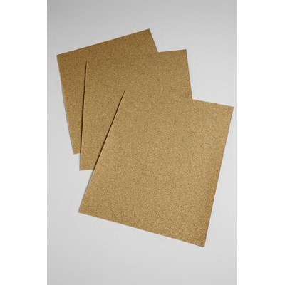 3M™ 051144-02112 Coated Abrasive Sheet, 11 in L x 9 in W, 150 Grit, Very Fine Grade, Aluminum Oxide Abrasive, Paper Backing