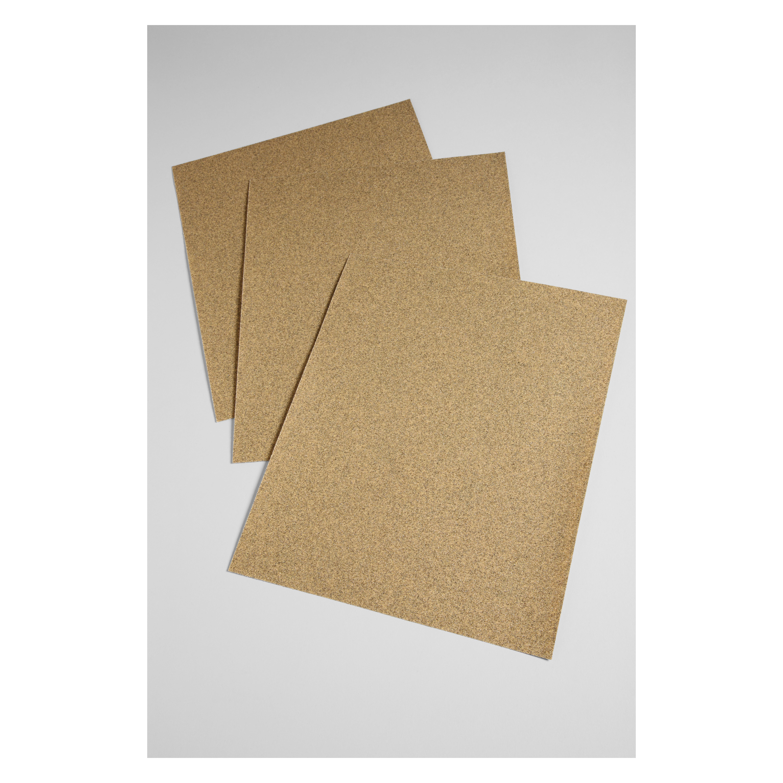 3M™ 051144-02115 Coated Abrasive Sheet, 11 in L x 9 in W, 80 Grit, Medium Grade, Aluminum Oxide Abrasive, Paper Backing
